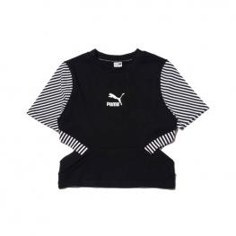 Camiseta Puma Clash Top 579586 - Cotton Black-Strip