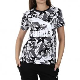 Camiseta Puma Logo Tee Aop 578202 - Cotton Black