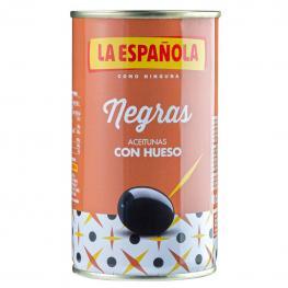 Aceitunas Negras Con Hueso la Española 185 G.