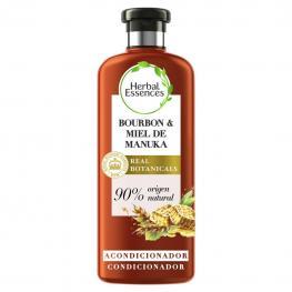 Acondicionador Repara Bourbon & Miel de Manuka Herbal Essence 400 Ml.