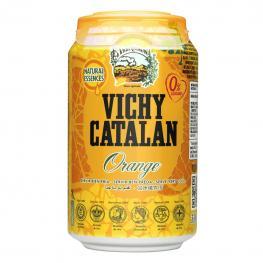 Agua Mineral Con Gas Vichy Catalán Natural Sabor Naranja 33 Cl.