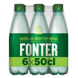 Agua Mineral Fonter Natural Con Gas Pack de 6 Botellas de 50 Cl.