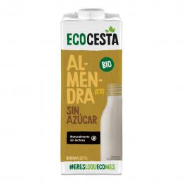 Bebida de Almendra Sin Azúcar Añadido Ecológica Ecocesta Sin Gluten Brik 1 L.