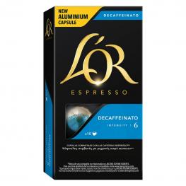 Café Descafeinado En Cápsulas L'Or Espresso Compatible Con Nespresso 10 Unidades de 5,2 G.