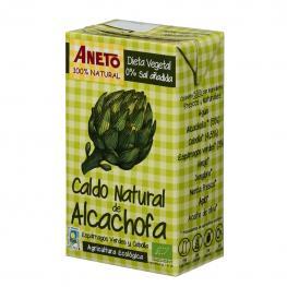 Caldo Natural de Alcachofa Ecológico Aneto Sin Gluten y Sin Lactosa 1 L.
