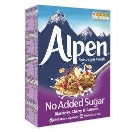 Cereales Con Arándanos y Almendras Sin Azúcares Añadidos Muesli Alpen 560 G.