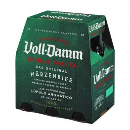 Cerveza Voll Damm Doble Malta Pack de 6 Botellas de 25 Cl.