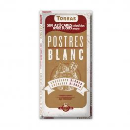 Chocolate Blanco Especial Postres Sin Azúcar Añadido Torras Sin Gluten 218 G.