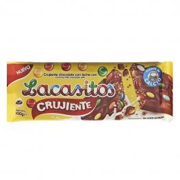Chocolate Con Leche Con Grageas de Chocolate Lacasitos Lacasa 100 G.