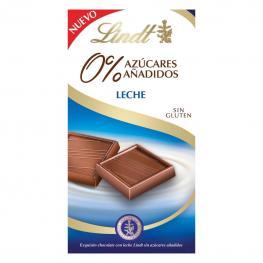 Chocolate Con Leche Sin Azúcar Añadido Lindt Sin Gluten 100 G.