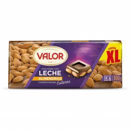 Chocolate Con Leche y Almendras Enteras Valor Sin Gluten 300 G.