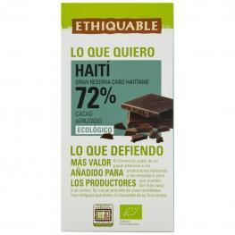 Chocolate Negro 72% Ecológico Ethiquable 100 G.