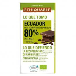 Chocolate Negro 80% Ecológico Ethiquable 100 G.