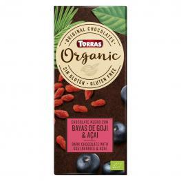 Chocolate Negro Con Bayas de Goji Ecológico Torras Sin Gluten 100 G.