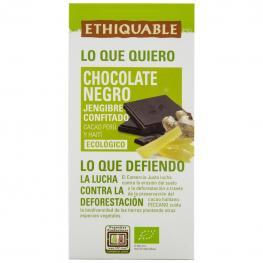 Chocolate Negro Con Jengibre Confitado Ecológico Ethiquable 100 G.
