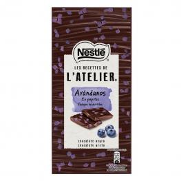 Chocolate Negro Con Pepitas de Arándanos Nestlé L'Atelier 95 G.