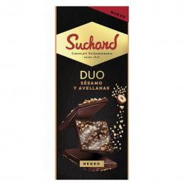 Chocolate Negro Con Sésamo y Avellanas Suchard 101 G.