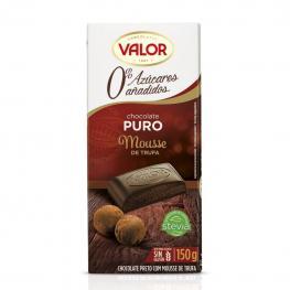 Chocolate Negro Relleno de Mousse de Trufa Sin Azúcar Añadido Valor 150 G.