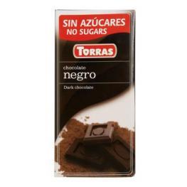 Chocolate Negro Sin Azúcar Torras 75 G.