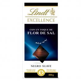Chocolate Negro Suave Con Toque de Sal Lindt Excellence 100 G.