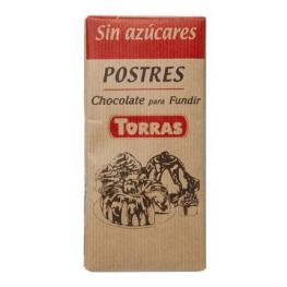 Chocolate Para Fundir Especial Postres Torras Sin Azúcar 200 G.