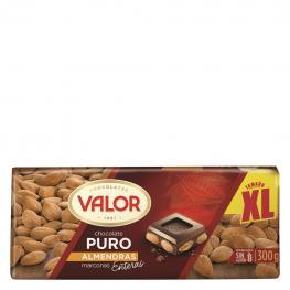 Chocolate Puro Con Almendras Marconas Enteras Xl Valor Sin Gluten 300 G.