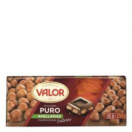 Chocolate Puro Con Avellanas Enteras Valor 250 G.