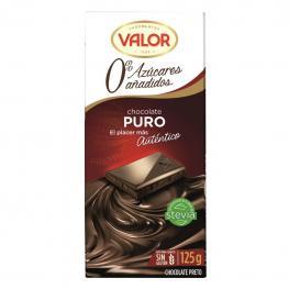 Chocolate Puro Con Stevia Sin Azúcar Añadido Valor Sin Gluten 125 G.
