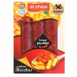 Chorizo Asturianos Toque Picante el Chico Sin Gluten y Sin Lactosa 250 G.