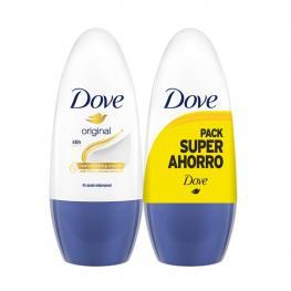 Desodorante Roll-On Original Con Vitaminas e y F Dove Pack de 2 Unidades de 50 Ml.
