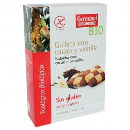 Galletas Con Cacao y Vainilla Ecológicas Germinal Bio Sin Gluten 250 G.