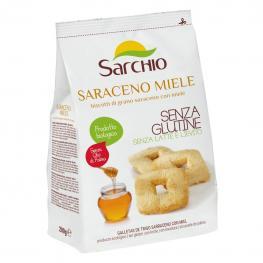 Galletas de Trigo Sarraceno Con Miel Ecológicas Sarchio Sin Gluten 200 G.