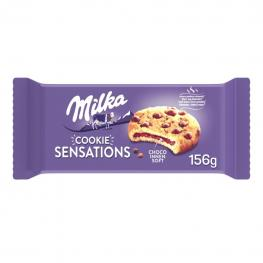 Galletas Rellenas de Chocolate Con Pepitas de Chocolate Sensation Milka 156 G.