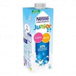 Leche Infantil de Crecimiento Desde 1 Año Nestlé Junior Sin Azúcar Añadido Sin Aceite de Palma Brik 1 L.