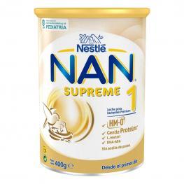 Leche Infantil de Crecimiento Desde el Primer Día En Polvo Nestlé Nan Supreme 1 Sin Aceite de Palma Lata 400 G.