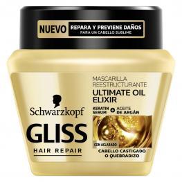Mascarilla Capilar Reestructurante Ultimate Oil Elixir Para Cabello Castigado Gliss 300 Ml.