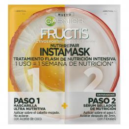 Mascarilla Capilar y Sérum Nutri Repair Instamask Garnier Fructis 15 Ml.+15 Ml.