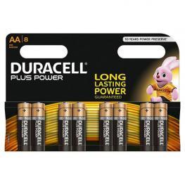 Pack de 8 Pilas Alcalinas Uso Frecuente Duracell Lr06 (Aa) Plus