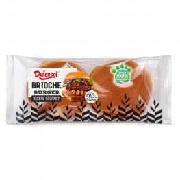 Pan de Brioche Para Hamburguesa Dulcesol 4 Ud.