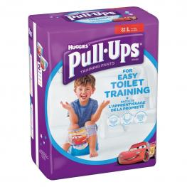 Pañales de Aprendizaje Niño Huggies Pull-Ups T. L (16-23 Kg.) 22 Ud.