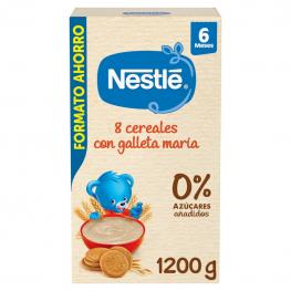 Papilla Infantil Desde 6 Meses 8 Cereales Con Galleta María  Nestlé 1200 G.