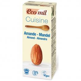 Preparado Alimenticio de Almendras Ecológico Ecomil Sin Gluten y Sin Lactosa 200 Ml.