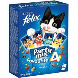 Purina Felix Snacks Para Gatos Party Mix Surtido 40G