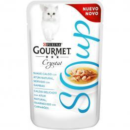 Purina Gourmet Crystal Soup Comida Para Gato Atun Natural y Gambas 32X40G