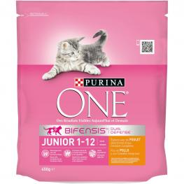 Purina One Bifensis Pienso Para Gato Junior Pollo y Cereales 450G