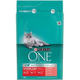 Purina One Pienso Para Gato Adulto Esterilizado Salmón y Trigo 3Kg