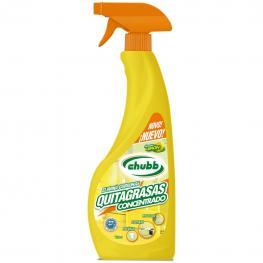 Quitagrasas Concentrado Aroma Limón Biogras Spray Chubb 750 Ml.