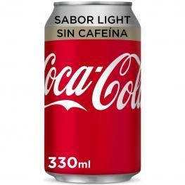 Refresco de Cola Coca Cola Light Sin Cafeína Lata 33 Cl.