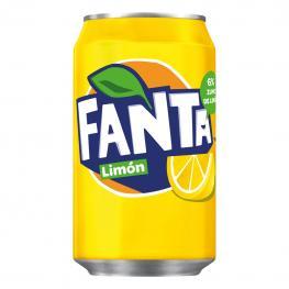 Refresco de Limón Fanta Con Gas Lata 33 Cl.