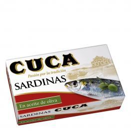 Sardinas En Aceite de Oliva Cuca 120 G.